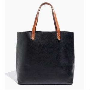 Madewell Transport Tote Black Brown Large